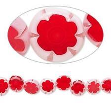6430 Glass Disc Beads Millefiori 6mm 15 inch Red  *UK EBAY SHOP*