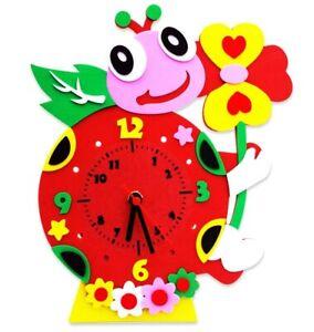 CHILDRENS _ ART _ CLOCK _ LADYBEETLE -- (GREAT_CHRISTMAS_GIFT)