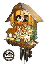 Original Schwarzwälder Kuckucks-Uhr/Schwarzwald-Haus 1-Tag Musik Holz-Hacker neu