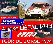 Anexo decal 1/43 Lancia Stratos J.C. Andruet - Biche Rally Tour de Corse 1974