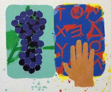 Joe TILSON 2003 serigrafia materica originale firmata