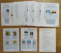 Bund ETB 2013 Ersttagsblätter kompletter Jahrgang BRD mit Inhaltsverzeichnis + S