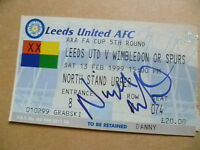 Ticket- LEEDS UNITED v WIMBLEDON/ SPURS, FA Cup 5th Round, 13 Feb 1999