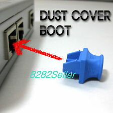 100 PCS Blue RJ45 Jack Dust Caps Port Cover and Protector Boot  cat5 cat6 Switch