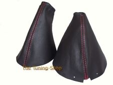 Gear & Handbrake Gaiter For Nissan 350Z 2002-2009 Leather Red Stitching