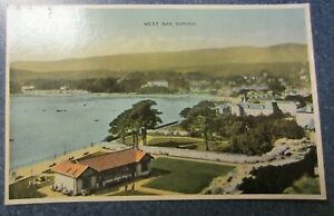 Vintage 1943 E T W Dennis Colour Postcard - West Bay, Dunoon Churchill Quote