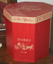 Vintage Red Dobbs New York Hat Box with insert