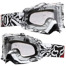 Fox Airspc Lunettes de MOTOCROSS MX encore Blanc Transparent Détachable ENDURO