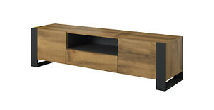 Nunki tv unit 180 cm anthracite oak bottom