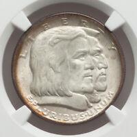 1936 50c Long Island Silver Commemorative Half Dollar NGC MS66