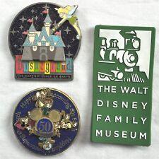 Disneyland 50th Walt Disney Family Museum 3 Magnet Lot Tinkerbell 2005-2009