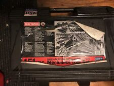 Vintage Craftsman Mechanics Tool Set Socket Wrench w/Case 129 Piece USA