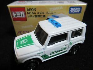 ***TSS Tomica Suzuki Jimny Dubai Police Car Version ( AEON Shop Special Model )
