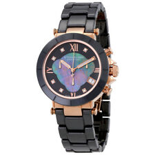 Stuhrling Original Fusion Black Mother of Pearl Dial Ladies Chronograph Watch