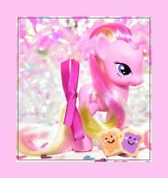 "❤️My Little Pony 3"" Playful Pony Brushable LULU LUCK 2011 Rare Pink Unicorn G4❤️"