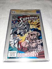 DC Superman The Man of Steel #19 CGC SS 9.2 Doomsday Signed x3 Simonson Carlin +