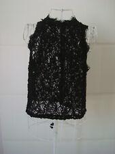 Zara trafaluc women's lace blouse top size M UK 12 EU 40