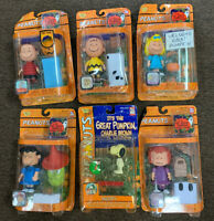 Lot Of 6 It's The Great Pumpkin Charlie Brown Figure Sets 2002-2003 Memory Lane
