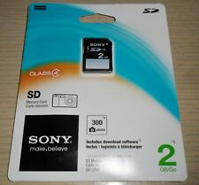 Sony 2GB SD Memory Card ~ Class 4 for Cameras