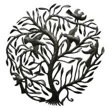 "Haitian Metal Wall Art Handcrafted Sculpture Hanging Garden Tree Large 32"" Sz"