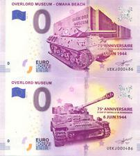 14 COLLEVILLE Overlord Museum 4 & 5, Mêmes N° de la 5è, 2019,Billet 0 € Souvenir