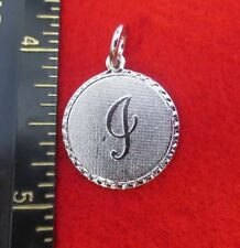 14KT WHITE GOLD EP LETTER I ROUND INITIAL DISC CHARM WAS $8.95