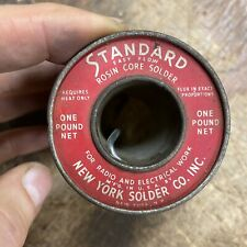 Nos Rosin Core Standard Easy Flow Solder Usa By The New York Solder Co