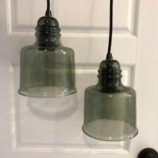 "Pottery Barn Paxton Glass 8"" Pendant Light"