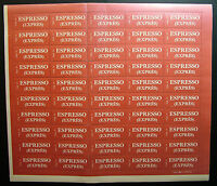 "1980  Storia Postale   ""Espresso""   foglio intero  MNh**   Mod. 24"
