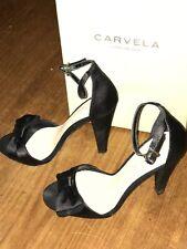 Stunning. Kurt Geiger Carvela black satin stiletto brand new in box size 37