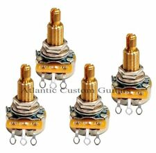 "4 CTS 550K 9% tolerance Custom Audio Taper Pots Long Shaft 3/4"" fit Gibson LP"