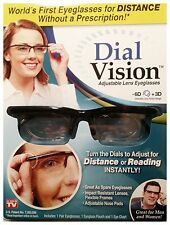 Dial Vision Adjustable Lens Eyeglasses (ASTV), -6D To +3D, Free Case & Shipping