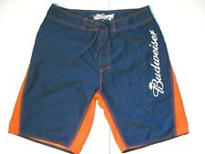Men's 34 Budweiser Official Product Advertising Quick Dry Swim Trunks Shorts