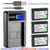 Kastar Battery LCD Charger for Sony NP-FH50 & Cyber-shot HX100V DSC-HX200 HX200V