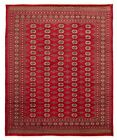 """Vintage Hand-Knotted Carpet 8'2"""" x 9'8"""" Traditional Oriental Wool Area Rug"""