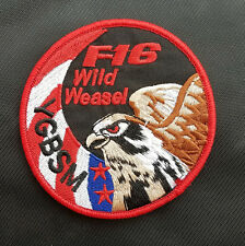 Usaf F-16 Wild Weasel Ygbsm U.S. Army Usa 3D Morale Embrodiered Hook Patch #01