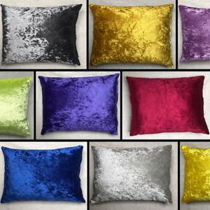 Crushed Velvet Rectangle Cushion Cover Handmade Pillow Case Sofa Bed Home Decor