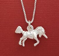 Unicorn Necklace Sterling silver New Solid 925 Charm Pendant and Chain jewellery