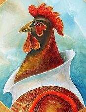 """Painting Original OIL on canvas contemporary Fine art Modern by Pronkin """"Rooster"""