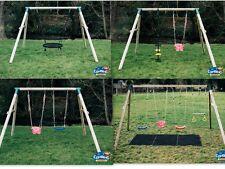 Wooden Swing Set Single Double Triple Commercial Slide Monkey Bar Climbing Frame