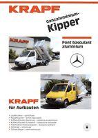 Krapf Nutzfahrzeuge Prospekt D F  2001 Ganzaluminium-Kipper brochure prospectus