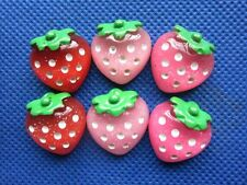 30 Resin Dots Strawberry 19MM Flatback Button/cute -3 Colors B207