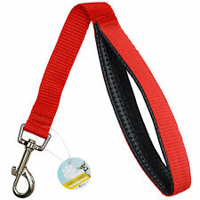 ME & MY RED SHORT CLOSE CONTROL DOG LEAD/TRAINING/TRAFFIC STRONG PADDED GRIP