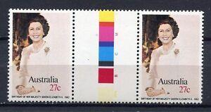 40637) AUSTRALIA 1982 MNH** Queen 56th birthday 1v gutter pair