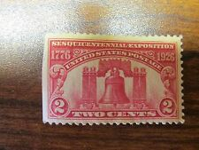 Sesquicentennial Exposition 1776 to 1926 2 cent Unused US Postage Stamps