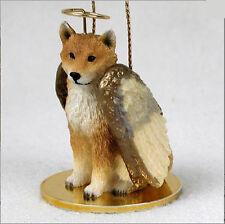 Shiba Inu Ornament Angel Figurine Hand Painted