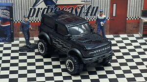 """HOT WHEELS 2021 FORD BRONCO LOOSE 1:64 SCALE CUSTOM """"BLACK"""" COLLECTION SERIES"""