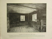 1896 VICTORIAN LONDON PRINT + TEXT THE PRISON IN LOLLARD'S TOWER LAMBETH PALACE