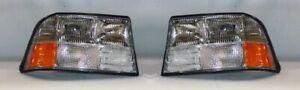 Right and Left Side Headlight PAIR (w/o Fog Light) 1998-2004 GMC Jimmy/Sonoma