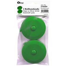 2 Rollmaßbänder, Schneidermaßband Band-Maß, Maßband grün 150 cm /60 Zoll, E90089